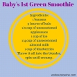 Baby's 1st Green Smoothie (1)