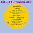 Baby's 1st Green Smoothie